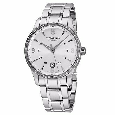 Victorinox Swiss Army Men's Alliance Silver Dial Steel Date Quartz Watch V241712