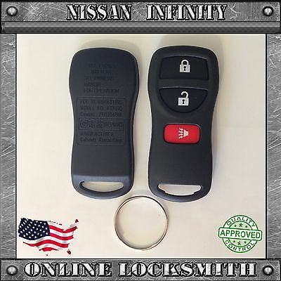 New Replacement Keyless Entry Remote Shell Case Fob For Nissan Infinity 3 Button