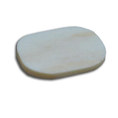 KNOCHENSCHEIBE Kamel Knochen Platte Messerbau Griffe-Abschluß oval 30x20x3 - Kamel Griff