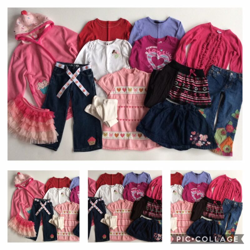 GIRLS SIZE 4T ~HUGE LOT CLOTHES OUTFITS JEANS DRESS TOPS GYMBOREE OLD NAVY PLACE