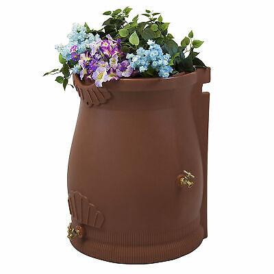 Good Ideas RWURN50-TC 50 Gallon Rain Water Saver Wizard Barrel Urn, Terra Cotta