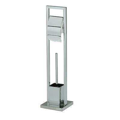 Chrom Wc Papier Halter (WC Garnitur Toilettenpapierhalter Toilettenbürste Klorollenhalter Metall chrom)