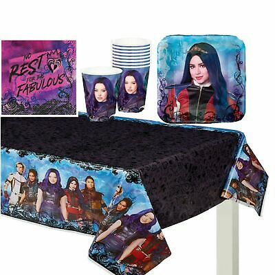 Descendants 3 Girl Tableware Birthday Party Supply ~ Cup Plates Table Cover 33pc