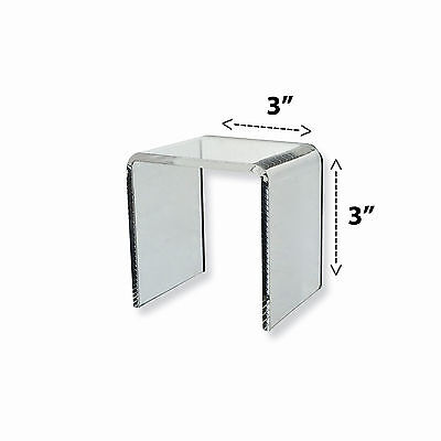 Clear Square Riser Display Stand 3 X 3 X 3 Small Showcase