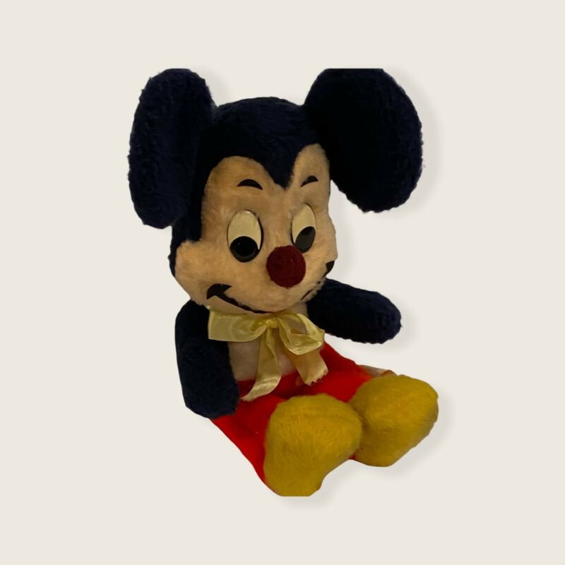"Vintage 50s Walt Disney Mickey Mouse Plush Character 15"" California Stuffed Toys"