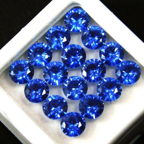 8 Pcs Natural Sapphire Gemstone Lot Certified Ceylon Blue Round 5 mm Size Lot