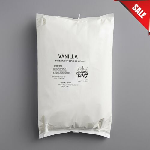 (CASE OF 6) 6 lb. Non-Dairy Vanilla/Chocolate Soft Serve Mix Machine Ice Cream