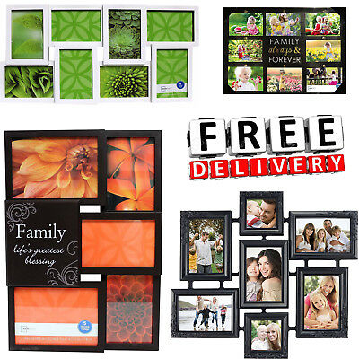Photo Frame Set Collage Format Lot Wall Art Home Decor Gift Float Picture Frame (Collage Wall Art Set)