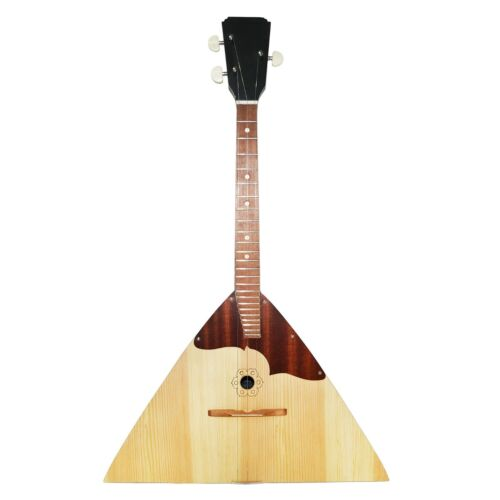 New Original Russian Ukrainian Balalaika Prima Trembita Natural Wood! Folk music