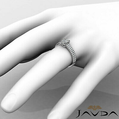 Cushion Diamond Engagement GIA G VVS2 18k Yellow Gold U Cut Prong Set Ring 0.8Ct 11