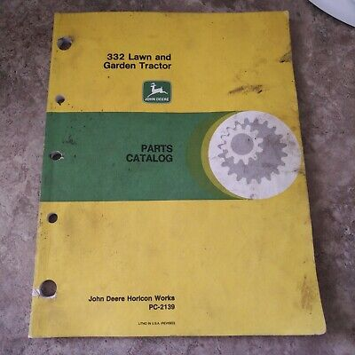 John Deere 332 Lawn And Garden Tractor Parts Catalog Pc-2139