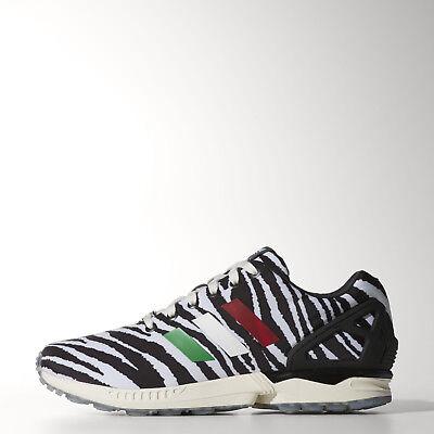 New-Adidas-ZX-FLUX ITALIA-INDEPENDENT ZEBRA 8000 Running Boost-Shoe-Mens sz 11.5