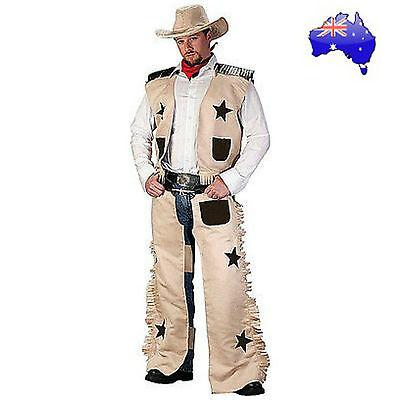 Wild West Sheriff Costume (Mens Adult Cowboy Wild West Sheriff Gunslinger Texas Rodeo Fancy Dress)