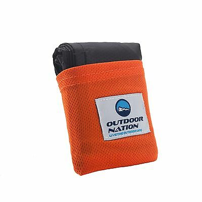 Outdoor Nation Picnic Waterproof Mat Pocket Blanket for Camping/Traveling/Hiking