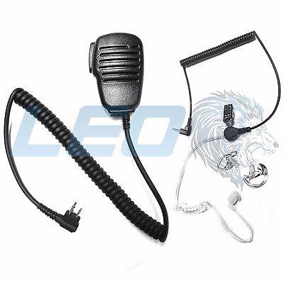 Leo Speaker Mic + 3.5mm Earpiece + 2 Clear Earmolds For M...