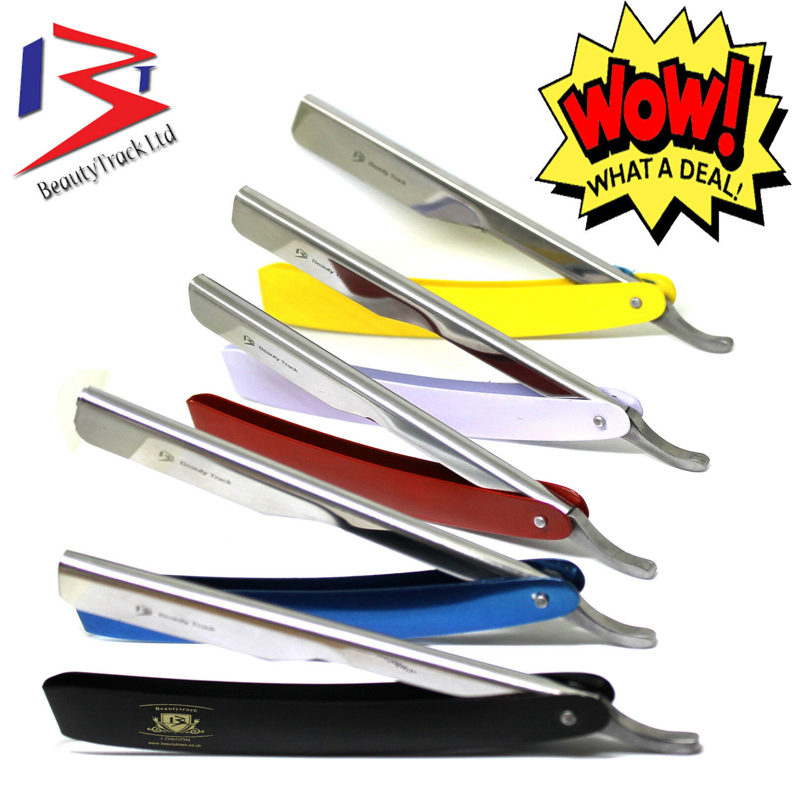 BARBER STRAIGHT CUT THROAT SALON SHAVING RAZOR QUALITY RASOI RASIERER +10 BLADES