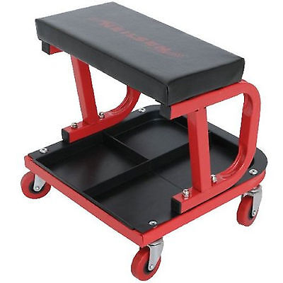 Pneumatic Mechanic Garage Workshop Steel Creeper Seat Tool Storage Swivel Stool