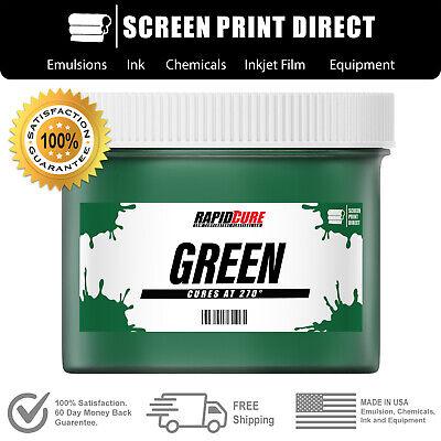 Green - Screen Printing Plastisol Ink - Low Temp Cure 270f - 8oz