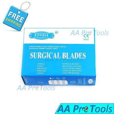 100 Scalpel Blades 11 Sterile Surgical Blades Surgical Dental Ent Instruments