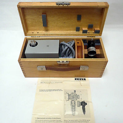 Zeiss Akz Autocollimator For Zeiss Theodolite With Original Documentation.