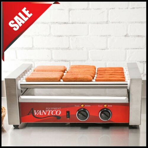 Avantco Commercial 18 Hot Dog Roller Grill with 7 Rollers, Non-Skid - 120V, 590W