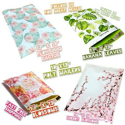 100 Poly Mailers 10x13 Mix Design Variety Pack 25 Ea