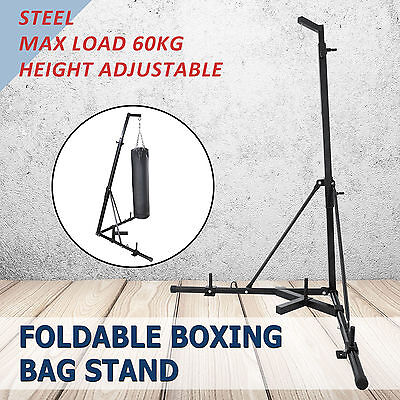 Foldable Boxing Bag Stand Heavy Punching Fitness Practice Height adjustable