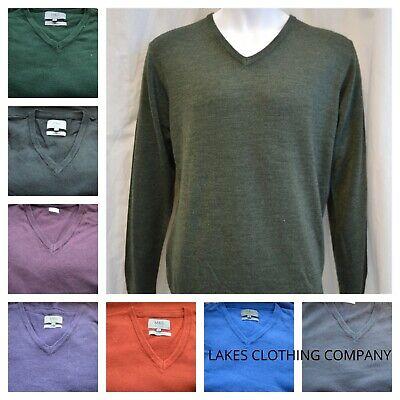M&S Cashmilon Jumper Mens V Neck Soft Knit Sweater Pullover Various Colours