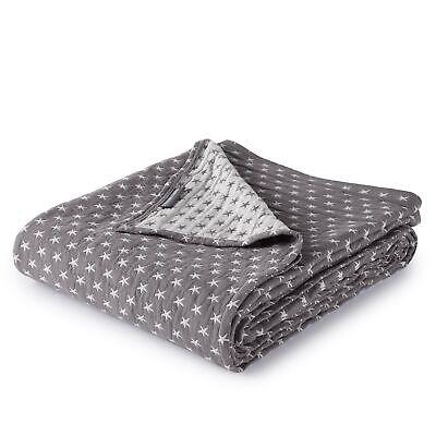 Sterling Creek 3-Layer Soft Gauze Cotton Lightweight Reversible Blanket, Gray