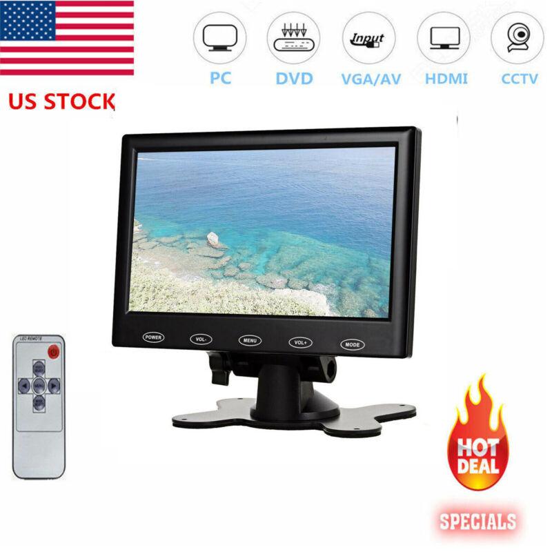 "Mini 7"" LCD CCTV Monitor HD PC Screen HDMI VGA AV RCA 1080P for Raspberry Pi-US"