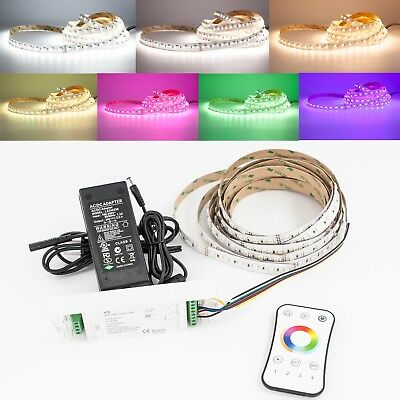 16ft All in one 24v RGBW + WW LED Light Strip + Controller + UL Power (One Light 24' Cord)