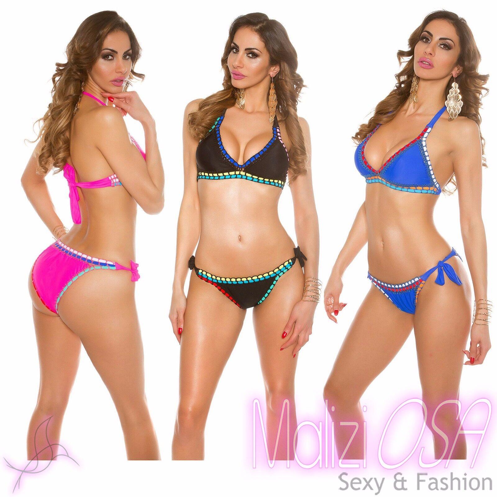 Bikini Uncinetto Costume Da Bagno Crochet Swimwear Swimsuit Donna