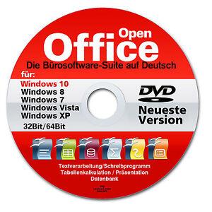 Open Office PREMIUM für WINDOWS 10, 8 & 7 Schreibprogramm Textverarbeitung