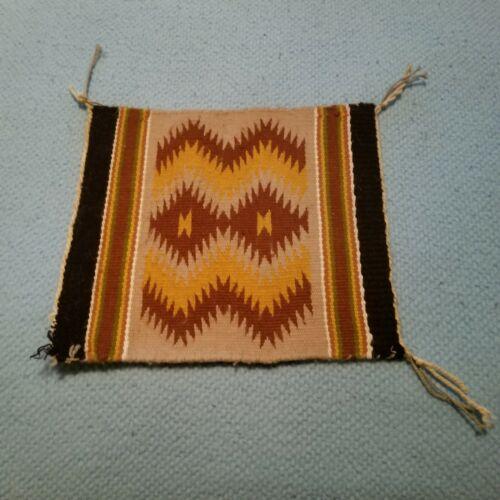 """Navajo Rug Hand Woven Small Mini Size Rug 10"""" x 12"""""""