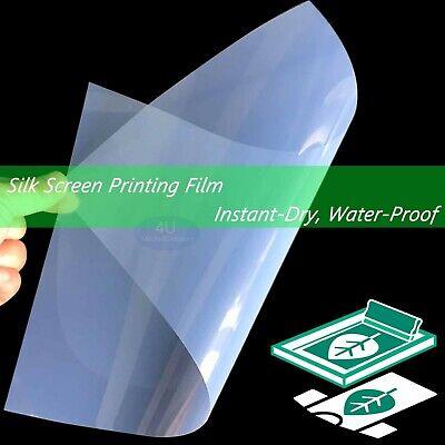 Waterproof Inkjet Transparency Film For Screen Printing 8.5 X 1125 Sheets
