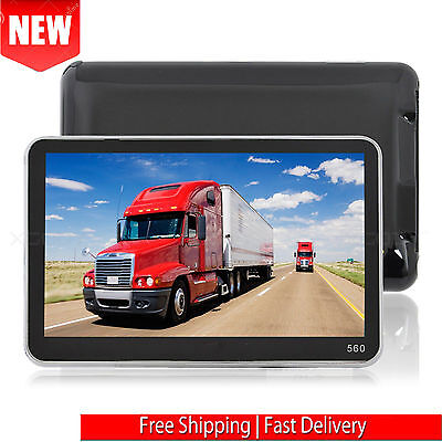 New 560 5Inch Truck Car Gps Navigation Sat Nav Navigator   Free Lifetime Maps