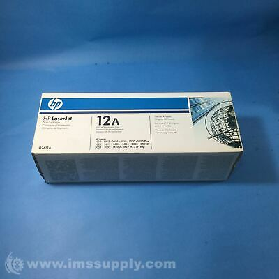 HP Q2612A 12A Black Toner Cartridge FNFP for sale  Shipping to India