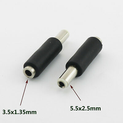 10x DC Power 5.5 x 2.5mm Male Plug To 3.5 x 1.35mm Female Jack Adapter Connector