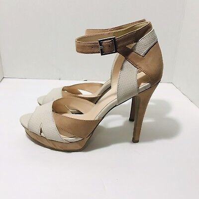 Nine West Size 9.5 High Heel Pumps Faux Suede Leather Peep Toe Ankle Strap NWOB Nine West Peep Toe Pumps