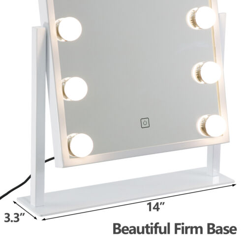 Hollywood Table Top Makeup Mirror Vanity Mirror with 12 LED Dimmable Bulb Health & Beauty