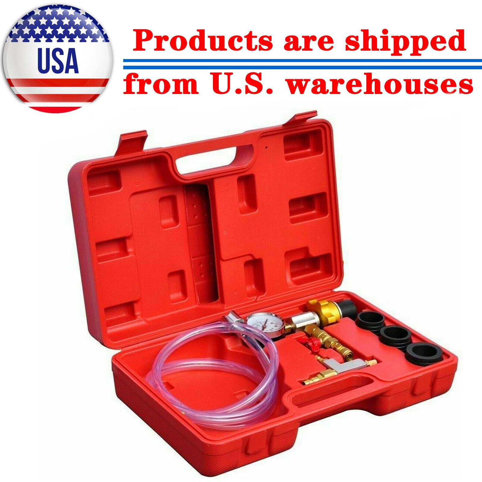 Engine Cooling System Vacuum Radiator Kit Refill Purge Set Universal Auto Tools