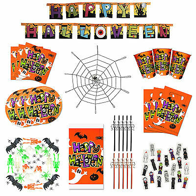 Halloween Tableware Set (Ultimate Kids Happy Halloween Party Decoration & Tableware)