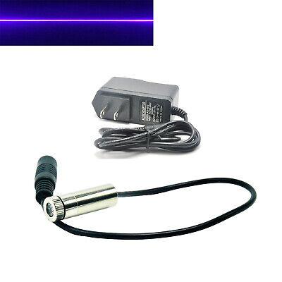 Focusable 405nm 50mw 12x40mm Line Violetblue Laser Module Adjustable W Adapter