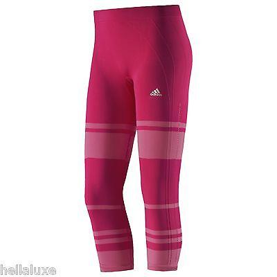 nwt~Adidas ADIPURE SEAMLESS TIGHT 3/4 Leggings Yoga Runing Capri Pant~Women sz M
