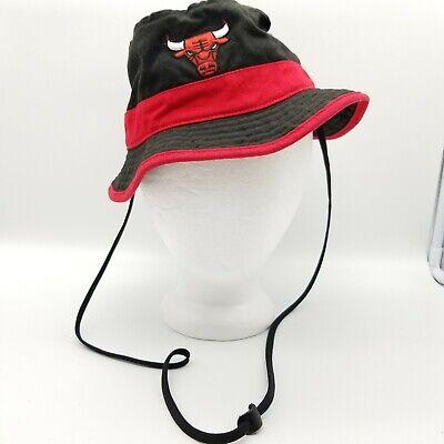 Adidas Chicago Bulls Bucket Hat Cap Hat NBA Black Red Small/Medium Jordan