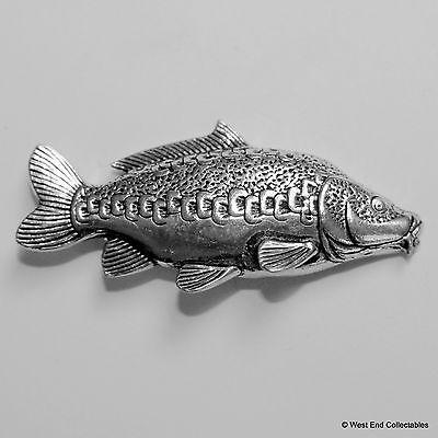 Mirror Carp Pewter Pin Brooch -British Hand Crafted- Coarse Fishing Angling Fish