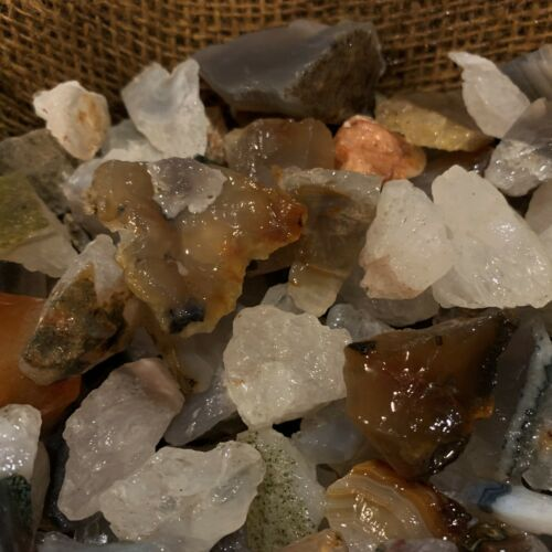3000 Carat Lots of Brazilian Agate Rough - Plus a FREE Faceted Gemstone