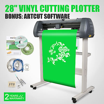 "28"" Sign Sticker Vinyl Cutter Cutting Plotter+Artcut Software With Stand"