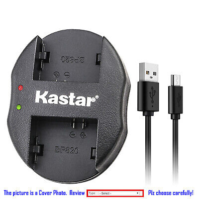 Kastar Battery Dual Charger for Canon OEM BP-827 BP827 Genuine Canon CG-800