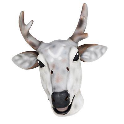Erwachsene Latex Rentier Rudolph Reh Hirsch Maske Weihnachten Kostüm - Hirsch Maske Kostüm